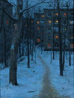Evgeny Lushpin (oil on canvas) beautiful