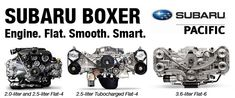 Subaru Boxer Engine Information provided by Subaru Pacific in Hermosa Beach, CA