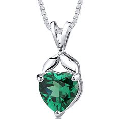 Revoni 3ct Heart Shape Emerald Pendant in Sterling Silver Rhodium Finish of Length 46cm Revoni http://www.amazon.co.uk/dp/B00A3C5KWS/ref=cm_sw_r_pi_dp_5m7fub047A7WK