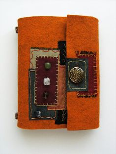 Your place to buy and sell all things handmade Book Art, Artist's Book, Fabric Journals, Lawn Fabric, Textiles, Handmade Books, Wool Applique, Journal Covers, Book Making