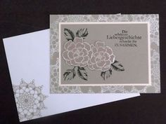 """Stampin up Set """" Delicate Doilies """" Sectret Garden """" und """" Stippled Blossoms """""""