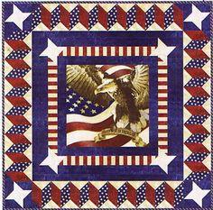 Liberty Square Patriotic Quilt Kit, Stars & Stripes Stonehenge by Northcott