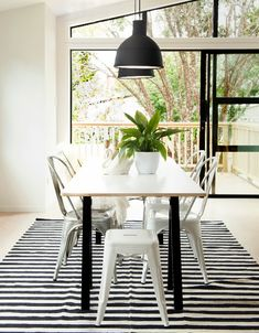 That striped rug is so pretty!