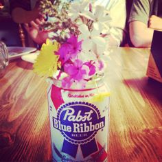 Why yes, you can use a PBR can to dress up your table. At least, in North Carolina you can. #reasonstolovenc