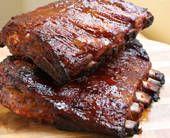 Hoisin-Glazed Barbecue Pork Spare Ribs