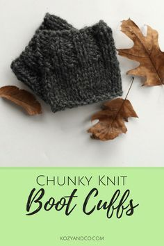 43 ideas for knitting patterns chunky yarn boot cuffs Knitting Machine Patterns, Chunky Knitting Patterns, Loom Knitting, Knit Patterns, Double Knitting, Knitting Needles, Free Knitting, Baby Knitting, Knitted Boot Cuffs