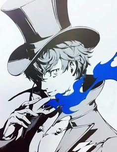 Worse than dead / Forgotten Persona 5 Anime, Persona 5 Joker, Persona 4, Shin Megami Tensei Persona, L Death, Akira Kurusu, Game Art, Art Inspo, Anime Guys