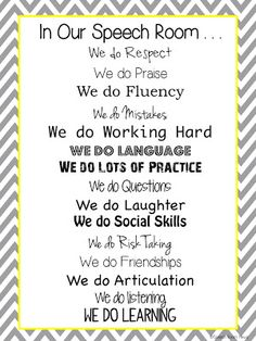 Speechie Freebies: Speech Room Poster Freebie! Pinned by SOS Inc. Resources. Follow all our boards at pinterest.com/sostherapy for therapy resources.