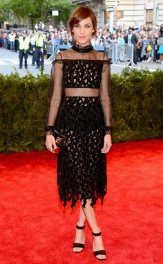pThe fashion-forward star wore an Erdem dress that featured a sheer waistline and sleeves along with a subtle peekaboo factor for the top and skirt./p