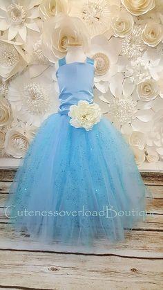 efd0de1b087 40% off all orders-Blue Flower girl dress-Flower girl Princess Flower Girl