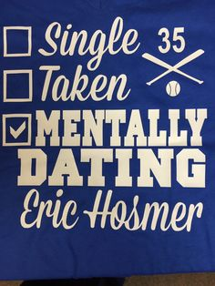 Kansas City Royals Eric Hosmer Tee T-shirt by CLOWDdesigns on Etsy ... I think I'm gonna need this shirt! #JustSayin
