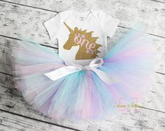 Unicorn First Birthday Outfit First Birthday Girl Birthday
