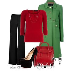 """""""Red and Green"""" by christa72 on Polyvore"""