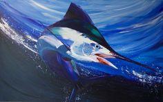 Marlin Acrylic Painting by Daniel Schausberger 160x100cm