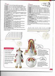 Free Crochet Amigurumi Unicorn Pattern - How to make unicorn dolls tutorial Amigurumi Tutorial, Crochet Patterns Amigurumi, Crochet Dolls, Cute Crochet, Crochet Baby, Knit Crochet, Crochet Gratis, Crochet Unicorn, Unicorn Pattern