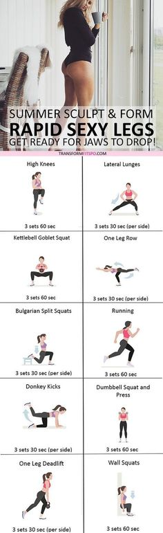 nd share if this workout gave you sexy summer legs! Click the pin for the full workout. Fitness Workouts, Fitness Motivation, Fitness Hacks, Yoga Fitness, At Home Workouts, Health Fitness, Body Workouts, Workout Diet, Health Diet
