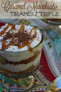 This Caramel Macchiato Tiramisu Trifle is the only Fall dessert recipe you'll need! #FoundMyDelight AD