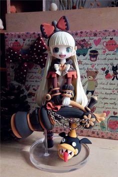Polymer Clay Figures, Polymer Clay Dolls, Polymer Clay Crafts, Chibi, Kawaii Doll, Anime Figurines, Cute Clay, Anime Dolls, Sculpture Clay