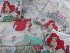 Little mermaid sheets!!!!! I had the sheets, but not the comforter. LOVED them!!!!!