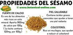 propiedades de las semillas de sesamo o ajonjoli