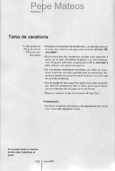 Tarta de zanahoria _ ARCHIVO DE RECETAS THERMOMIX: POSTRES Y DULCES