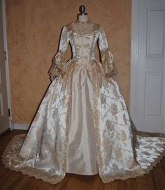 Fantasy Marie Antoinette Gown With Train and by RomanticThreads