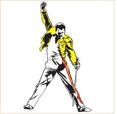 Freddie Mercury pose