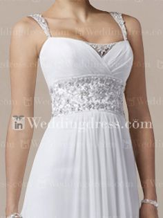 Summer Wedding Dress. Usually hate any wedding dress with straps, this is cute though.