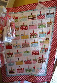 Cutie Pinwheel: basket quilt