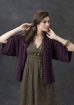 Ravelry: Xian Knit Kimono Jacket pattern by Margret Willson Kimono Shrug, Kimono Jacket, Crochet Cardigan, Knit Crochet, Crochet Sweaters, Knit Picks, Knitting Patterns, Sweater Patterns, Crochet Patterns