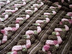 Braided Mile-A-Minute Afghan from Leisure Arts