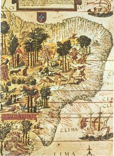 Cartografia colonial. Brasil no período colonial.