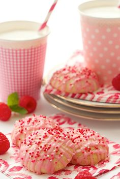 Raspberry Melt-Aways. Melt in your mouth butter cookies with a fabulous, fresh raspberry icing!