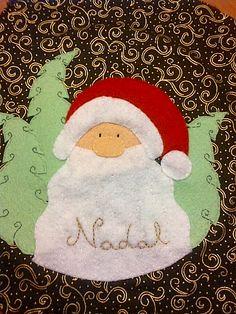 apliques de fieltro de navidad
