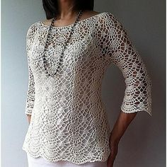 Ada - lacy shells top Crochet pattern by Vicky Chan Designs | Crochet Patterns | LoveCrochet