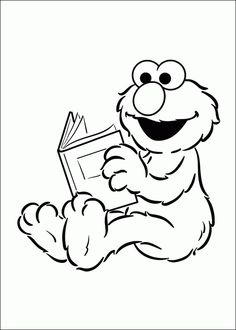 Elmo Coloring In Pages