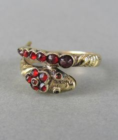 Leola Revives on Etsy  Victorian and Georgian jewelry, Georgian snake ring