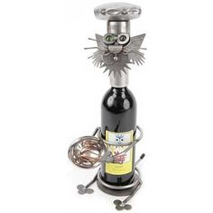 Chef Cat Wine Caddy Yardbirds by Richard Kolb by Yardbirds Richard Kolb. $136.00. Chef Cat Wine Caddy Yardbirds by Richard Kolb. Yardbirds by Richard KolbEach Yardbirds sculpture is created with scrap and recycled parts. Unique & whimsical, they're perfect to decorate your house inside & out. Due to the handcrafted nature of these pieces, no two are ever exactly alike.Junkyard Dogs, Cats, Birds and Sculptures are bare metal and naturally rust with age -- that's their...