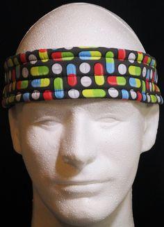 Ultimate Sweatband/Headband - Pills by BondPracticalProduct on Etsy