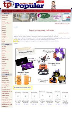 Sete produtos da Elo7 foram publicado no site Trubuna Popular Online, em matéria sobre decoração para Halloween.