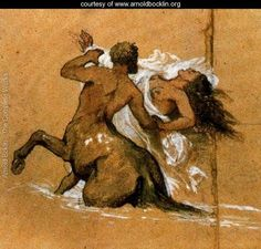 Centaur and nymph - Arnold Böcklin - www.arnoldbocklin.org