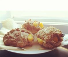 Ripped Recipes - Cinnamon Peach Scones - a healthy twist on everyones favorite coffee house snack.