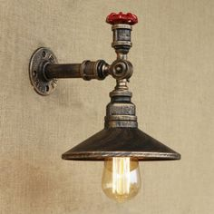 Retro Loft Valve Accent Saucer Shade Iron Pipe Wall Sconce in Inches High, Fashion Style Industrial Lighting Black Wall Sconce, Bronze Wall Sconce, Indoor Wall Sconces, Bathroom Wall Sconces, Outdoor Wall Sconce, Victorian Wall Sconces, Rustic Wall Sconces, Modern Wall Sconces, Candle Wall Sconces