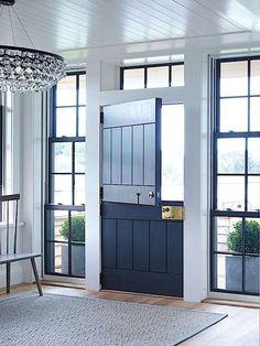 Door Design, Exterior Design, Interior And Exterior, Exterior Doors, Entry Doors, Front Doors, Entrance, Dutch Door Interior, Garage Door Makeover