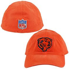 Get this Chicago Bears Orange Washed Bear Head Flex Fit Cap at ChicagoTeamStore.com