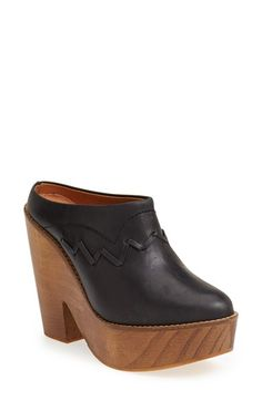 Free People 'Chance' Platform Clog (Women) available at Nordstrom. Must have beautiful. Women's Mules & Clogs, Clogs Shoes, Buy Shoes, Me Too Shoes, Heeled Clogs, Oxfords, Wedge Boots, Bootie Boots, Shoe Boots