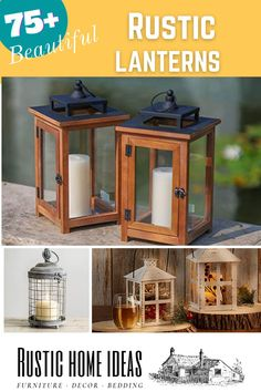 Rustic lanterns are a great for all seasons and holidays. View our large selection of rustic lanterns and get inspired to create new seasonal and holiday tables capes today!!! Rustic Lanterns, Holiday Tables, Capes, Invitation Design, Furniture Decor, Seasons, Holidays, Inspired, Create