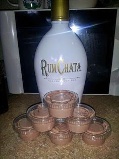 1 4 oz pkg instant chocolate jello pudding 1 cup milk 1 cup Rum Chata 1 8 oz container cool whip Mix milk, pudding and Rum Chata till thickened, gently mix in cool whip with spatula, pour (kinda thick but not set yet) into plastic jello shot (we call them Rumchata Pudding Shots, Chocolate Pudding Shots, Jello Pudding Shots, Rumchata Recipes, Cake Chocolate, Drinks With Rumchata, Cocktails, Party Drinks, Fun Drinks