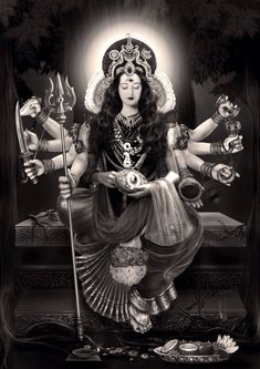 Maa Chandi is the total energy of the universe. Mother Goddess, Goddess Art, Goddess Lakshmi, Lord Durga, Durga Ji, Mother Kali, Divine Mother, Maa Durga Photo, Navratri Images