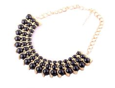 Fashion Bead Embellished Multi-Layered Pendant Alloy Necklace For Women (COLOR ASSORTED) | Sammydress.com